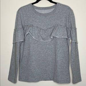 LOFT Ruffle Sweatshirt Top